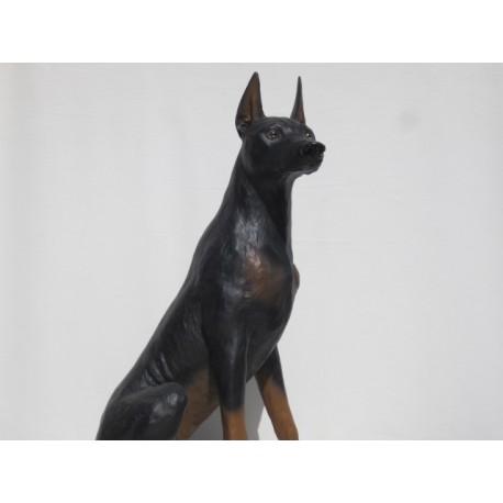 chien dobermann, taille réelle.