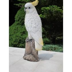 Réplique perroquet cacatoès en  résine taille réelle