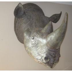 Réplique rhinocéros noir taille réelle.