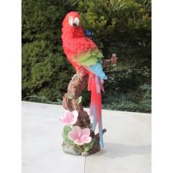 Réplique perroquet Ara  Macao résine