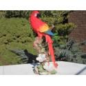 Réplique perroquet Ara  Macao résine, taille réelle