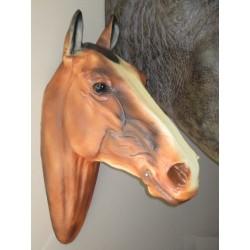 Trophée mural  tête de cheval taille réelle