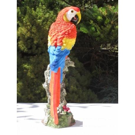 Réplique perroquet Ara résine