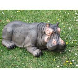 bébé hippopotame en  resine