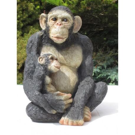 Statue résine chimpanzé